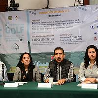 Toluca, México.- (Abril 05, 2017).- Mariana Sánchez Garay, directora ejecutiva de la Fundación UAEMéx, encabezó la conferencia de prensa donde anunció el Quinto Torneo de Golf, el cual se llevará a cabo el 24 de abril en el club de golf Los Encinos, en Lerma . Agencia MVT / Arturo Hernández.