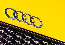 THEMENBILD - die AUDI Ringe auf einem gelben Audi R8, aufgenommen am 20. April 2018 in Fusch an der Glocknerstrasse, Österreich // the AUDI rings on a yellow Audi R8, Fusch an der Glocknerstrasse, Austria on 2018/04/20. EXPA Pictures © 2018, PhotoCredit: EXPA/ JFK