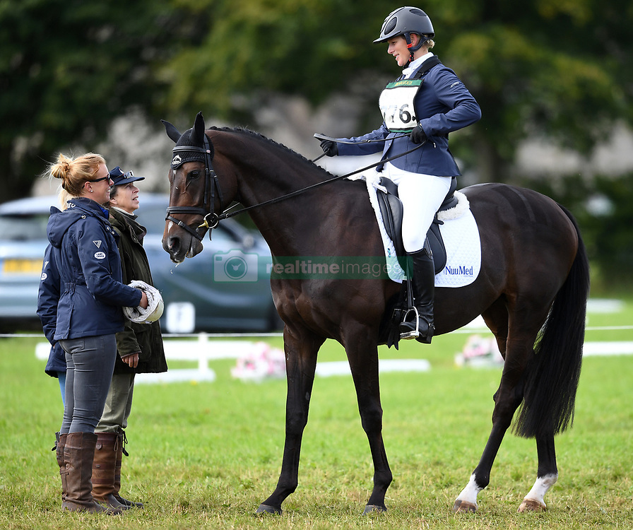 The Whatley Manor International Horse Trials at Gatcombe Park, Minchinhampton, Gloucestershire, UK, on the 9th September 2017. 09 Sep 2017 Pictured: Princess Anne, Princess Royal, Zara Tindall. Photo credit: James Whatling / MEGA TheMegaAgency.com +1 888 505 6342