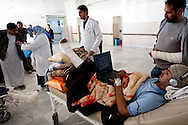 Wounded protesters in Al Jalal hospital in Benghazi on March 1, 2011.