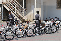 September 20, 2016 - Gaza City, Gaza Strip, Palestinian Territory - Palestinian orphan student receive bicycles from Turkish aid ''clips'', in Gaza City, on Sept. 17, 2016  (Credit Image: © Mohammed Asad/APA Images via ZUMA Wire)