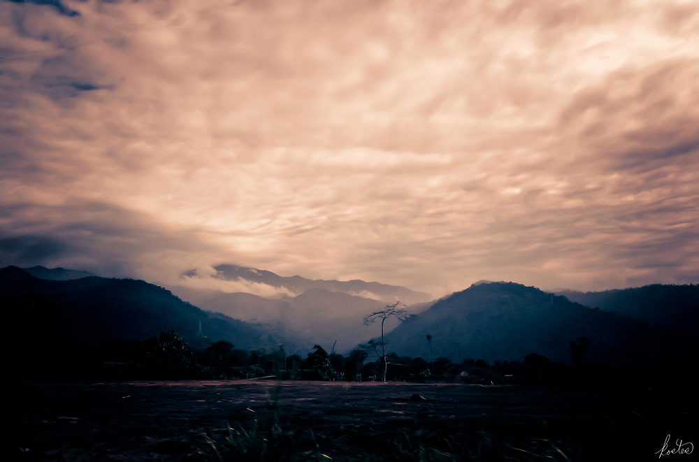A moody image in the Andes, not far from Cuenca, shortly before sunset.