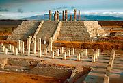 MEXICO, TOLTEC, HIDALGO TULA; famous Warrior columns
