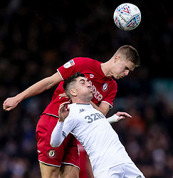 Markus Henriksen of Bristol City and Pablo Hernandez of Leeds United - Mandatory by-line: Daniel Chesterton/JMP - 15/02/2020 - FOOTBALL - Elland Road - Leeds, England - Leeds United v Bristol City - Sky Bet Championship