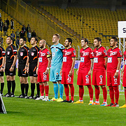 Fenerbahce's and Genclerbirligi's players during their Turkish superleague soccer match Fenerbahce between Genclerbirligi at the Sukru Saracaoglu stadium in Istanbul Turkey on Saturday 25 October 2014. Photo by Aykut AKICI/TURKPIX