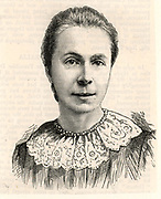 Mrs Sophia Bryant (born Willoch - 1850-1922) English mathematical scholar and teacher. In 1875 she joined the staff of the North London Collegiate School for Girls.  She became assistant to Miss Buss, the founder of the school whom she succeeded as Headmistress in 1895. The first woman to be awarded the degree of Doctor of Science by London University.  Campaigned for secondary education for women.  Engraving from 'The Graphic' (London, 2 August 1844).