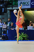 Katsiaryna Halkina atleta della società Raffaello Motto di Viareggio durante la seconda prova del Campionato Italiano di Ginnastica Ritmica.<br /> La gara si è svolta a Desio il 31 ottobre 2015.<br /> Katsiaryna è un atleta di origini bielorusse nata il 25 febbraio 1997.