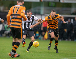 Dunfermline's Louis Longridge (10) scoring their goal. Half time : Dunfermline 1 v 1 Alloa Athletic, Irn Bru cup game played 13/10/2018 at Dunfermline's home ground, East End Park.