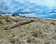 Charlestown Beach after a storm. Charlestown and Misquamecut, Rhode Island.