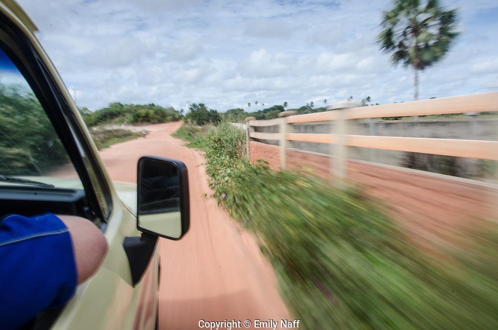 Driving through the Ceara region of Northeastern Brazil.