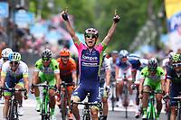 Arrival, ULISSI Diego (ITA) Lampre, winner, during the Giro d'Italia 2015, Stage 7, Grosseto-Fiuggi (264 Km) on May 15, 2015. Photo Tim de Waele / DPPI