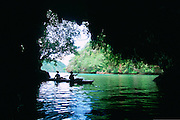 Kayaking, Rock Islands, Palau, Micronesia<br />