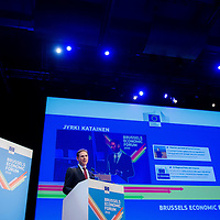 Brussels, Belgium, 9 June 2016<br /> Brussels Economic Forum 2016.<br /> Jyrki Tapani Katainen, European Commission Vice-President for Jobs, Growth, Investment and Competitiveness.<br /> The Brussels Economic Forum (BEF) is the flagship annual economic event of the European Commission.<br /> The BEF brings together top European and international policymakers and opinion leaders as well as civil society and business leaders. It is the place to take stock of economic developments, identify key challenges and debate policy priorities.<br /> Photo: European Commission / Ezequiel Scagnetti