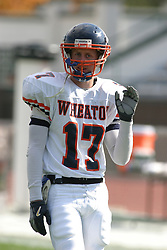 22 October 2005: Thunder WR Joe Chupp. The Illinois Wesleyan Titans posted a 23 - 14 home win by squeeking past the Thunder of Wheaton College at Wilder Field (the 5th oldest collegiate field in the US) on the campus of Illinois Wesleyan University in Bloomington IL