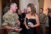 SGT. JOHN RIGBY; ALEXA JAGO; , Charity Dinner in aid of Caring for Courage The Royal Scots Dragoon Guards Afganistan Welfare Appeal. In the presence of the Duke of Kent. The Royal Hospital, Chaelsea. London. 20 October 2011. <br /> <br />  , -DO NOT ARCHIVE-© Copyright Photograph by Dafydd Jones. 248 Clapham Rd. London SW9 0PZ. Tel 0207 820 0771. www.dafjones.com.