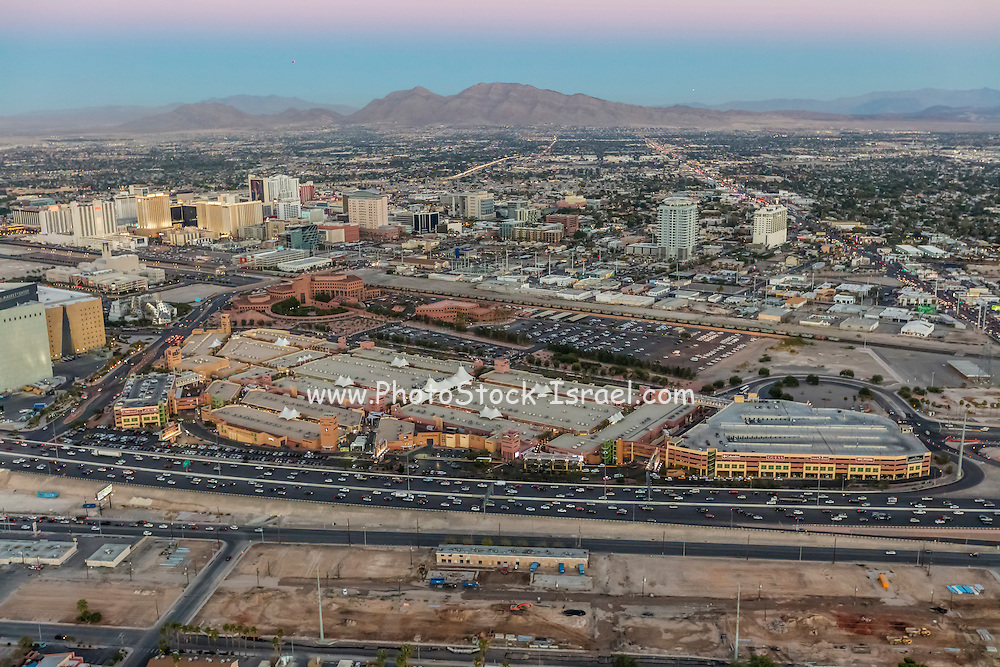 Aerial view of North Premium outlet, Las Vegas, Nevada, USA