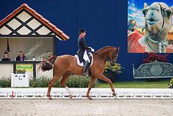 FAURIE Emile (GBR), Dono di Maggio<br /> Hagen - Horses and Dreams meets the Royal Kingdom of Jordan 2018<br /> Grand Prix de Dressage / Special Tour<br /> 28. April 2018<br /> www.sportfotos-lafrentz.de/Stefan Lafrentz