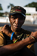 Portrait of a security guard in Durban, South Africa. The man is a former ANC- MK soldier (uMkhonto we Sizwe) who fought during the struggle against the South African Apartheid regime in the '80.