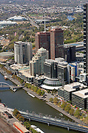 Aerial views of South Bank Area Melbourne.<br /> <br /> Larger JPEG + TIFF images available by contacting use through our contact page at :..www.photography4business.com