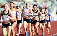 Friidrett ,  11. juni 2015 , Diamond League , Bislett Games , Oslo<br />  Atheltics<br /> 1500 m<br /> Ingrid Halvorsen Folvik , NOR<br /> Rebecca Hammond , USA