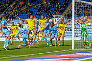 Oxford United forward Jonathan Obika (20) scores a goal during the EFL Sky Bet League 1 match between Oxford United and Coventry City at the Kassam Stadium, Oxford, England on 9 September 2018.