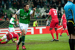 25.02.2010, Weser Stadion, Bremen, GER, UEFA Europa League, Werder Bremen vs FC Twente Enschede,  Runde Letzte 32 Rueckspiel, im Bild 1:0 Claudio Pizarro ( Werder  #24 ) Jubel  EXPA Pictures © 2010, PhotoCredit: EXPA/ nph/  Kokenge / SPORTIDA PHOTO AGENCY