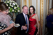 ANDREW ROBERTS; SARAH ROBERTS, TATLER 300TH ANNIVERSARY PARTY. Lancaster House. St. james's. London. 14 October 2009 *** Local Caption *** -DO NOT ARCHIVE-© Copyright Photograph by Dafydd Jones. 248 Clapham Rd. London SW9 0PZ. Tel 0207 820 0771. www.dafjones.com.<br /> ANDREW ROBERTS; SARAH ROBERTS, TATLER 300TH ANNIVERSARY PARTY. Lancaster House. St. james's. London. 14 October 2009