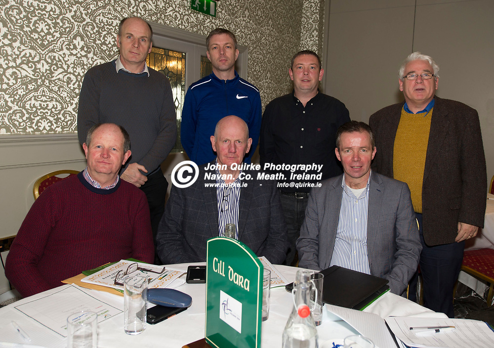 25-01-19. Leinster GAA Annual Convention 2018 at the Knightsbrook Hotel, Trim.<br /> Kildare Delegates in attendance at the Leinster GAA Convention L to R.<br /> Back: Ger Donnelly, Alan Dunny, David Cahill, Michael Mullen.<br /> Front: John McMahon, Michael Gorman and Larry Curtin.<br /> Photo: John Quirke / www.quirke.ie<br /> ©John Quirke Photography, Unit 17, Blackcastle Shopping Cte. Navan. Co. Meath. 046-9079044 / 087-2579454.