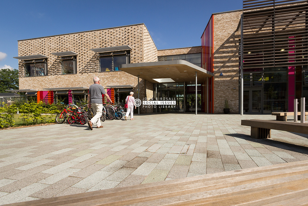 Entrance of The Broadwaters Inclusive Learning Community, Tottenham, London Borough of Haringey July 2014. This is a collaboration between two local schools, The Willow Primary School & The Brook Primary Special School. UK