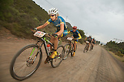 Yolandi du Toit and Ischen Stopforth of team Sasol Racing during stage 1 of the 2014 Absa Cape Epic Mountain Bike stage race held from Arabella Wines in Robertson, South Africa on the 24 March 2014<br /> <br /> Photo by Greg Beadle/Cape Epic/SPORTZPICS