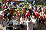 Middletown, New York - People sign up for the 2012 Run 4 Downtown road race on Saturday, Aug. 18, 2012.
