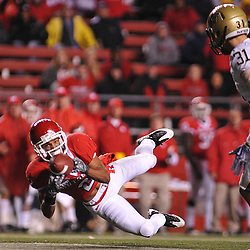 Oct 16, 2009; Piscataway, NJ, USA; Rutgers wide receiver Tim Brown (2) attempts a diving catch during second half NCAA football action in Pittsburgh's 24-17 victory over Rutgers at Rutgers Stadium.
