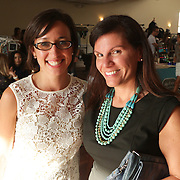 Brooke Chalk, left, and Leeanne Quattrucci pose for a photo during Fashion On Front Thursday August 21, 2014 at Bakery 105 in Wilmington, N.C.(Jason A. Frizzelle)