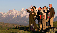 WWF staff on an excursion into the Teton National Park, Wyoming observing wild Bison, Elk and trying to find Wolves at Uhi Hill.<br /> <br /> During the WWF annual conference held at Jackson Lake Lodge, Grand Teton National Park, Wyoming, U.S.A.