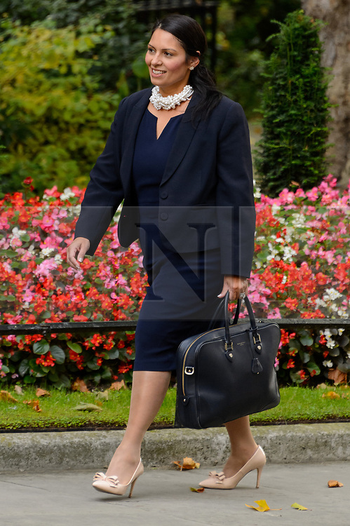© Licensed to London News Pictures. 21/09/2017. London, UK. International Development Secretary PRITI PATEL arrives for a cabinet meeting in Downing Street. Photo credit: Ray Tang/LNP