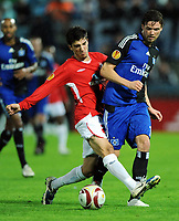 v.l. Omri Kende , Marcus Berg HSV<br /> Europa League Hapoel Tel Aviv - Hamburger SV<br /> <br /> Norway only