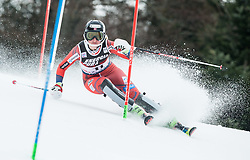 """Maren Skjoeld (NOR) competes during 1st Run of FIS Alpine Ski World Cup 2017/18 Ladies' Slalom race named """"Snow Queen Trophy 2018"""", on January 3, 2018 in Course Crveni Spust at Sljeme hill, Zagreb, Croatia. Photo by Vid Ponikvar / Sportida"""