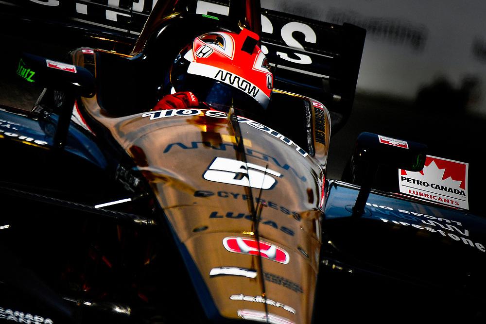 James Hinchcliffe, Schmidt Peterson Motorsports Honda<br /> Friday 13 July 2018<br /> Honda Indy Toronto<br /> Verizon IndyCar Series<br /> Streets of Toronto ON CAN<br /> World Copyright: Scott R LePage