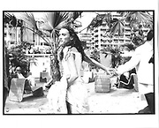 Amanda Ray-KIng, Croissette and beach, Cannes Film festival 14th May1997© Copyright Photograph by Dafydd Jones 66 Stockwell Park Rd. London SW9 0DA Tel 020 7733 0108 www.dafjones.com
