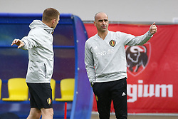 July 4, 2018 - Moscou, Russie - MOSCOW, RUSSIA - JULY 4 : Roberto Martinez head coach of Belgian Team and Graeme Jones ass. coach of Belgian Team  during the training session as part of the preparation prior to the FIFA 2018 World Cup Russia Quarter-final match between Brazil and Belgium at the Guchkova Sports center in Dedovsk on July 04, 2018 in Moscow, Russia, 4/07/2018 (Credit Image: © Panoramic via ZUMA Press)