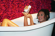 Megan Gale as shes never been seen before unveiling her private collection of luxurious Bath & Body products available exclusively at David Jones, Sydney Australia -28-04-05