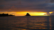 Sunrise, Chinamans Hat, Kaneohe Bay, Oahu, Hawaii
