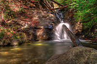 Redwood Gulch Falls, Los Padres National Forest, Central California Coast. Image taken with a Nikon D3x and 24 mm f/3.5 PC-E (ISO 100, 24 mm, f/16, 2.5, 5, 10, 20, 30 sec). Singh-Ray Filter. HDR Composite of 5 images using Photomatix Pro.