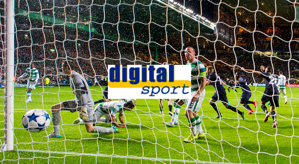 19/08/15 UEFA CHAMPIONS LEAGUE PLAY-OFF 1ST LEG<br /> CELTIC V MALMO<br /> CELTIC PARK - GLASGOW<br /> Jo Inge Berget celebrates after scoring a second for Malmo late on.
