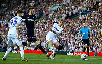 Leeds United's Patrick Bamford shoots at goal<br /> <br /> Photographer Alex Dodd/CameraSport<br /> <br /> The EFL Sky Bet Championship Play-off Second Leg - Leeds United v Derby County - Wednesday May 15th 2019 - Elland Road - Leeds<br /> <br /> World Copyright © 2019 CameraSport. All rights reserved. 43 Linden Ave. Countesthorpe. Leicester. England. LE8 5PG - Tel: +44 (0) 116 277 4147 - admin@camerasport.com - www.camerasport.com
