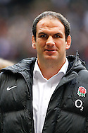 Martin Johnson of England looks on during the Investec series international between England and Australia at Twickenham, London, on Saturday 13th November 2010. (Photo by Andrew Tobin/SLIK images)