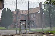 The fence surroundin the special mother and baby unit. HMP Styal, Wilmslow, Cheshire