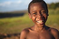 Boy on the shore of Manambolo - Madagascar - July, 2014 © Christian Columbres