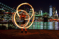 Fire Spinner @ Main Street Park, Brooklyn