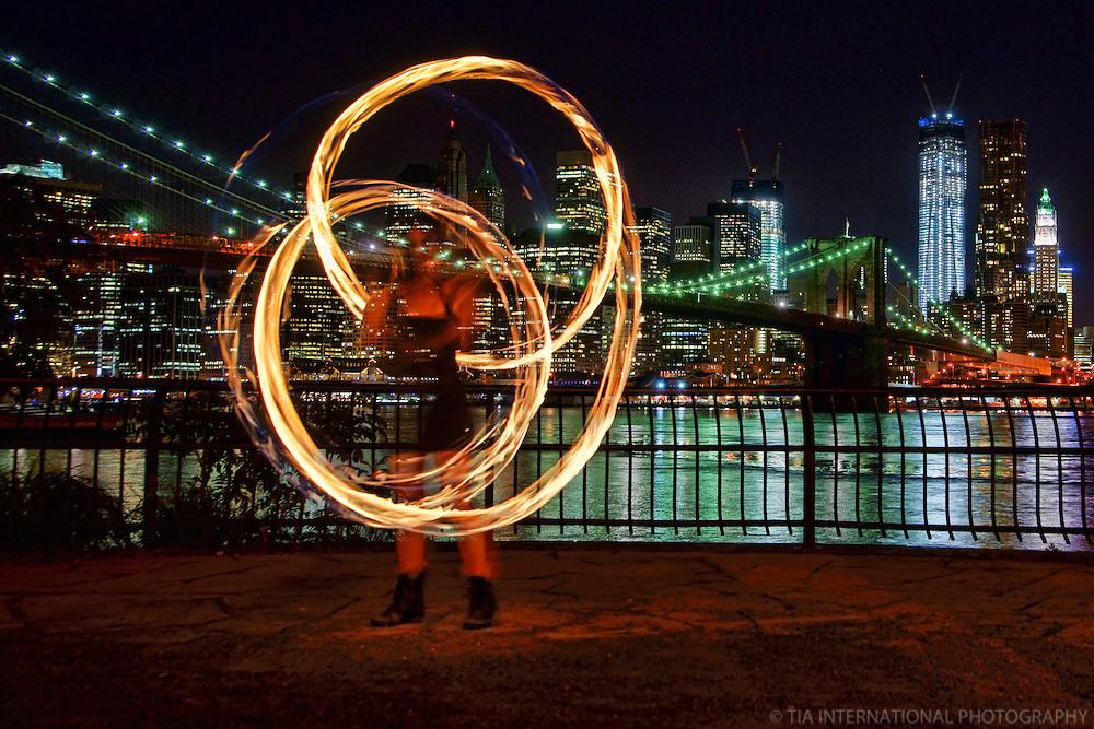 Fire Spinner @ Main Street Park, Brooklyn